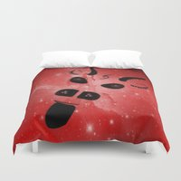 demon Duvet Covers featuring The Demon by minx267