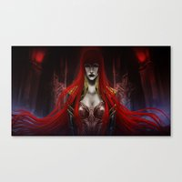 carmilla Canvas Prints featuring Queen Carmilla by Banished shadow