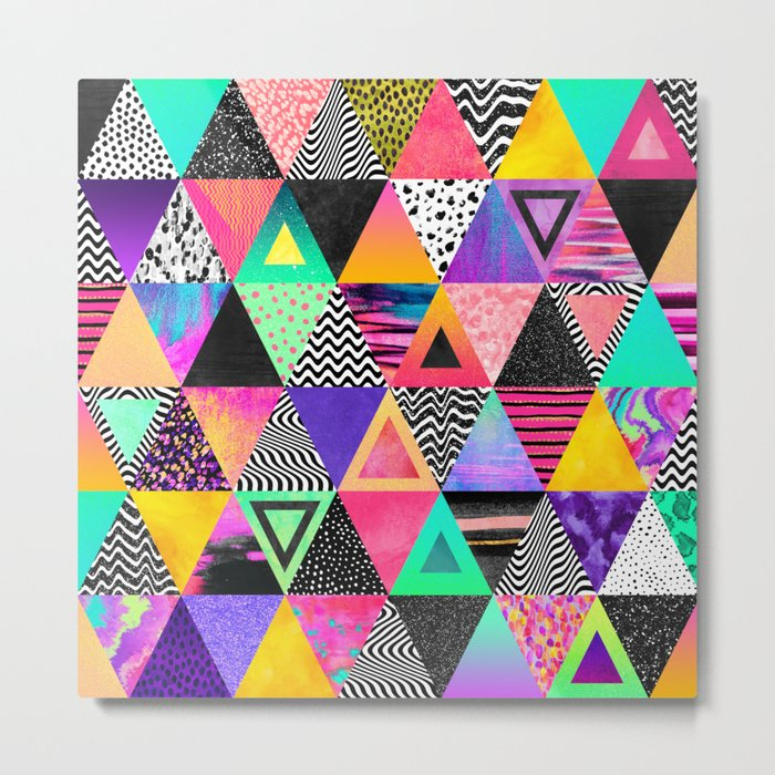 Quirky Triangles Metal Print