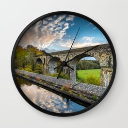 Chirk Aqueduct And Viaduct Wall Clock