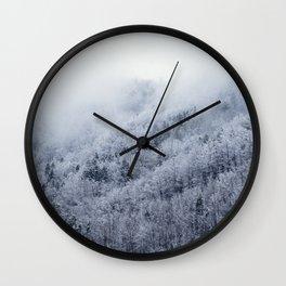 Winter Cometh Wall Clock