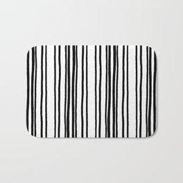 Lines and Curves Black/White Palette Bath Mat