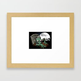just eat it (augmented reality) Framed Art Print