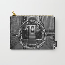 Prison Medical Ward Gate Cross - Black & White Carry-All Pouch