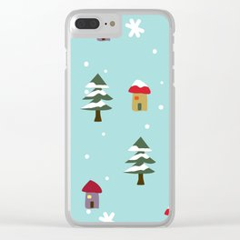 Home for Xmas Clear iPhone Case