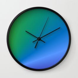 Green to Purple abstract Wall Clock