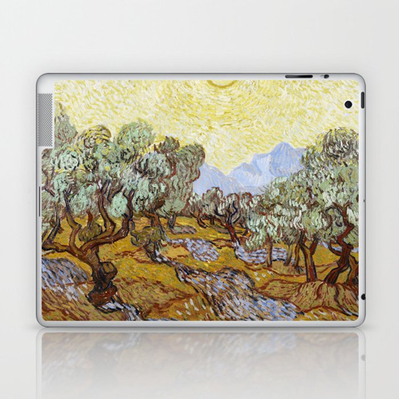 Olive Trees by Vincent van Gogh Laptop & iPad Skin