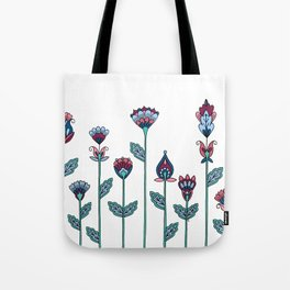 Spring Flowers White Tote Bag