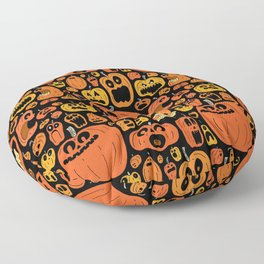 Pumpkin Pattern Floor Pillow