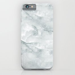Cool Grey Marble Pattern iPhone Case