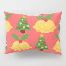 Winter/Christmas - Christmas Trees And Jingle Bells Pillow Sham