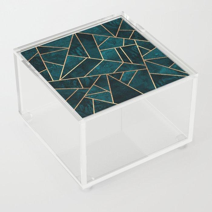 Deep Teal Stone Acrylic Box