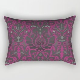 Aya damask fuchsia Rectangular Pillow