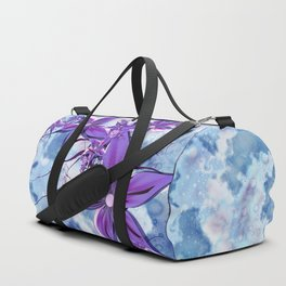 Painted Flowers Fractal Duffle Bag