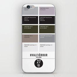 PANTONE glossary - Iceland - Hvalfjörður iPhone Skin