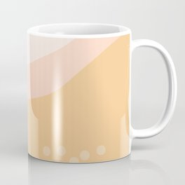 Peachy Tone Abstract Print Coffee Mug