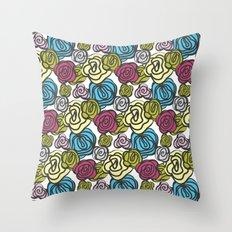 Bold roses Throw Pillow
