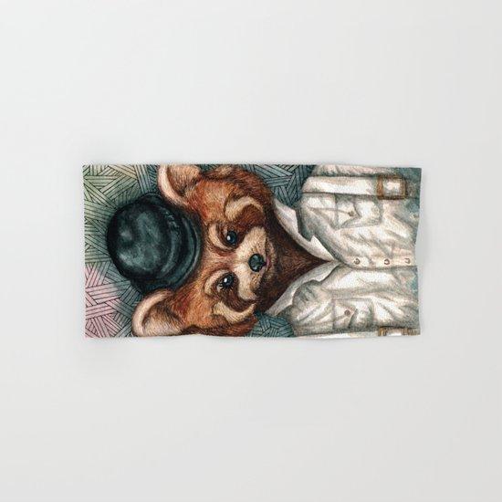 Cute Red Panda in Bowler hat Hand & Bath Towel