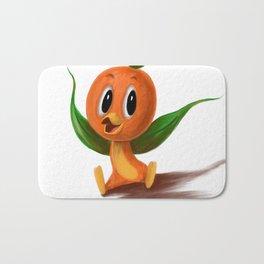Orange bird portrait Bath Mat