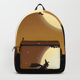Halloween Scene Witch Backpack