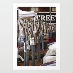 Meters at the Market Art Print