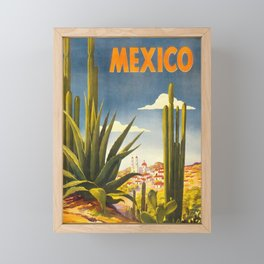 Vintage Travel Poster - Mexico Framed Mini Art Print