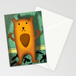 baby wombat fugitive Stationery Cards