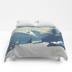 Mountain Sunrise (Pause II) Comforters