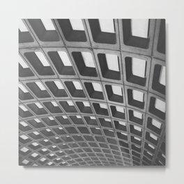 Metro Pattern Metal Print