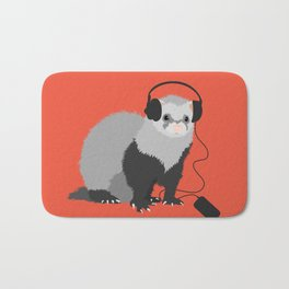Music Loving Ferret Bath Mat