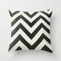 minimalist Throw Pillows featuring Twin Peaks Minimalist Poster by Kristjan Lyngmo