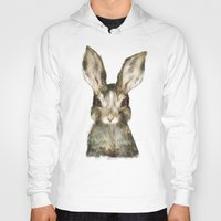 mug Hoodies featuring Little Rabbit by Amy Hamilton