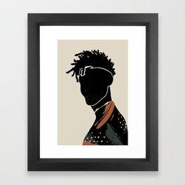 Black Hair No. 2 Framed Art Print