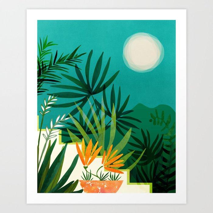 Tropical Moonlight / Tropical Night Series #1 Art Print