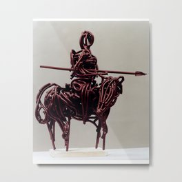 Don Quixote by Shimon Drory Metal Print