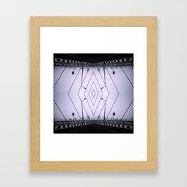 Bridge Of Diamonds - Symmetric Chaos Kaleidoscope Series 1 Framed Art Print