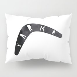 Karma / poster, boomerang, art print, pictures, scandinavian, nursery, deco, family, saying, christm Pillow Sham
