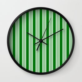 Large Vertical Christmas Holly and Ivy Green Velvet Bed Stripes Wall Clock