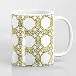 Gold & White Knotted Design Coffee Mug