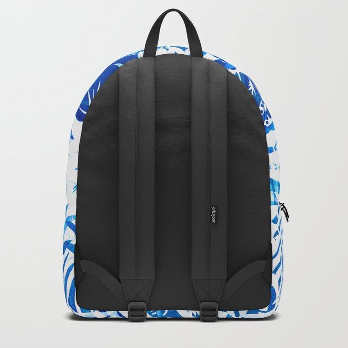 Jungle tropical blue Backpack