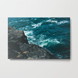 Land meets Sea Metal Print