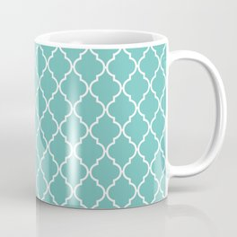 Moroccan Trellis, Latticework - Blue White Coffee Mug