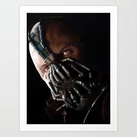 bane Art Prints featuring Bane by Rav Chaggar