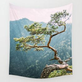 Sokolica Mountain Pine Tree Wall Tapestry