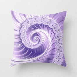 Ultra Violet Luxe Spiral Pattern   Trendy Color of the Year 2018 Throw Pillow