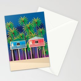Palolem Beach Huts Stationery Cards