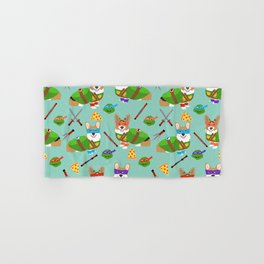 Teenage Mutant Corgis - corgi, dog, dogs, dog costume, halloween, comic, comic-con, cute dog Hand & Bath Towel