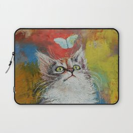 Kitten and Butterfly Laptop Sleeve
