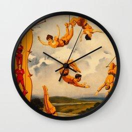 Vintage Barnum & Bailey Circus - Trapeze Wall Clock