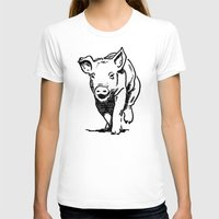running T-shirts featuring Running PIG by ARTito